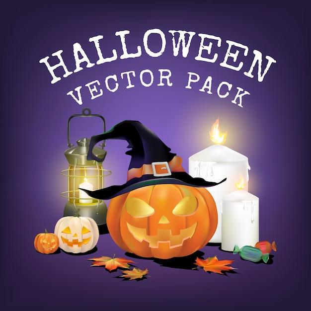 Pacote de vetores de halloween Vetor grátis