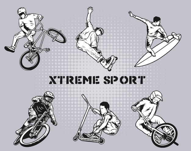 Pacote esportivo xtreme Vetor Premium