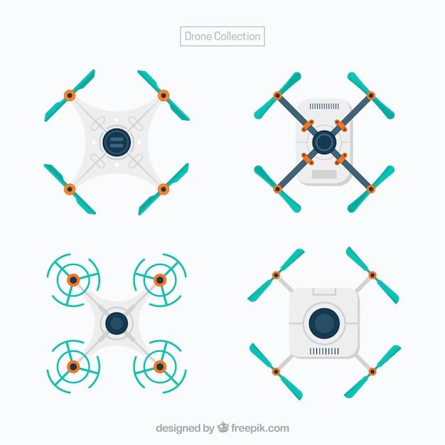 Pacote minimalista de drones modernos Vetor grátis