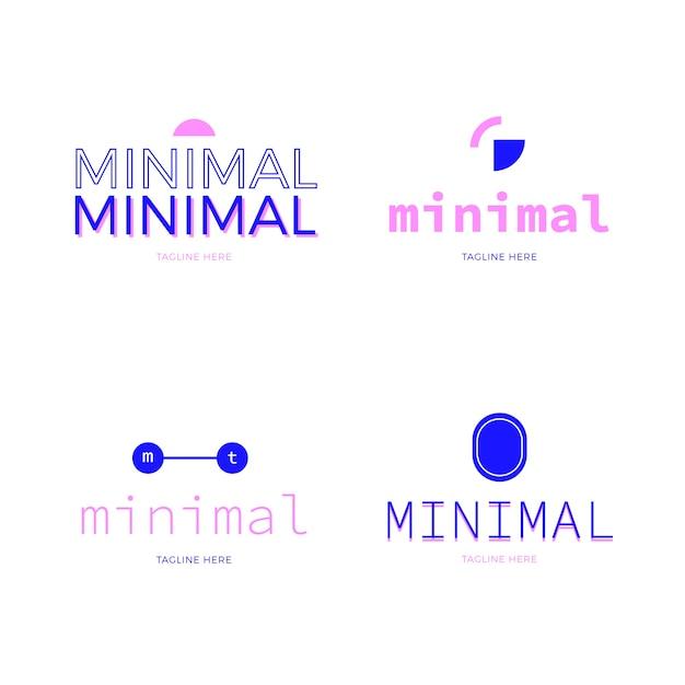 Pacote mínimo de elementos do logotipo Vetor grátis