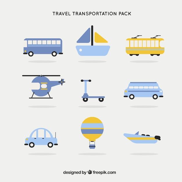 Pacote transporte viagem Vetor grátis