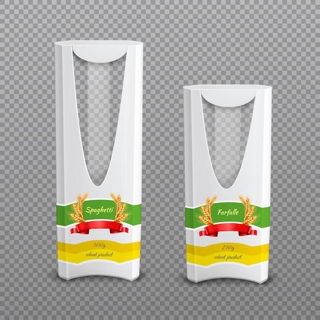 Pacotes realistas de massa fundo transparente Vetor grátis