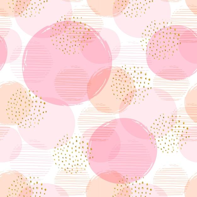 Padrão abstrato geométrico abstrato com círculos. Vetor Premium
