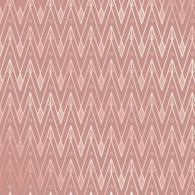 Padrão art déco em tons de rosa rosa Vetor grátis