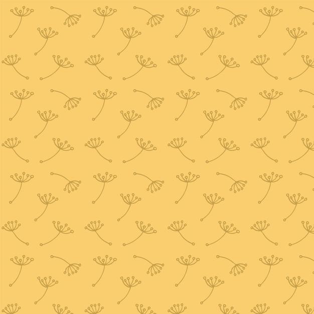 Padrão dandelion Vetor grátis