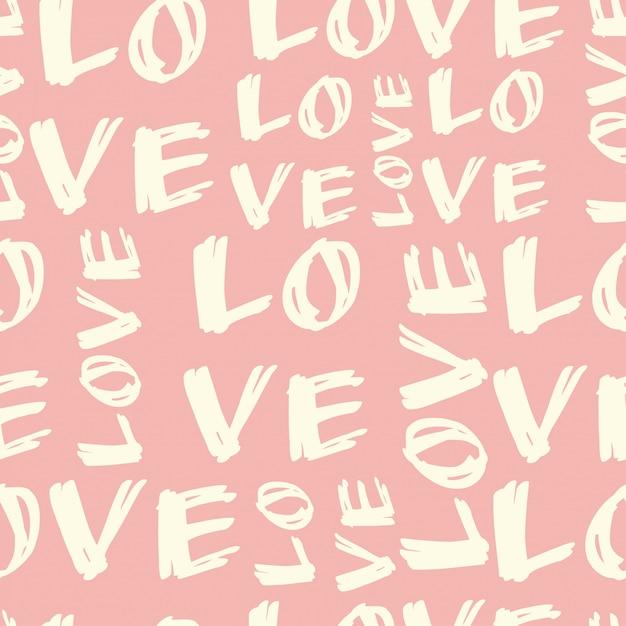 Padrão de amor Vetor Premium