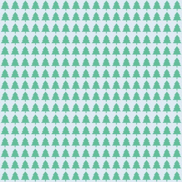 Padrão de árvores de natal Vetor Premium