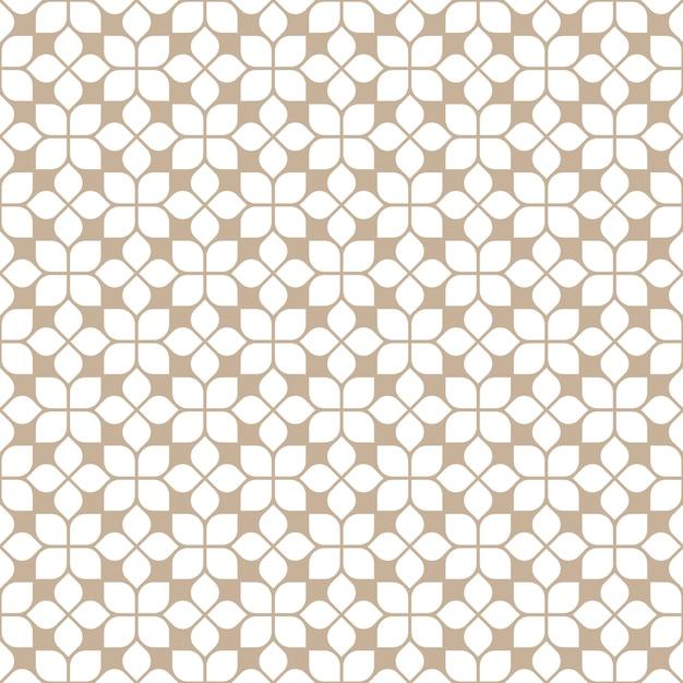 Padrão de azulejos bege sem costura em estilo oriental Vetor Premium