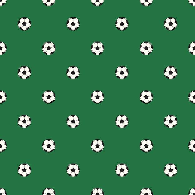 Padrão de bola de futebol Vetor Premium