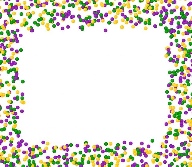 Padrão de carnaval mardi gras feito de pontos coloridos Vetor Premium