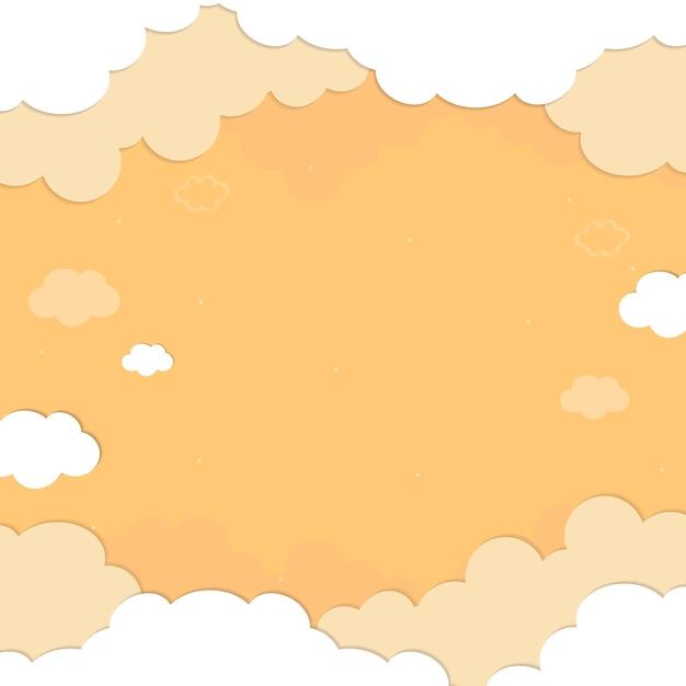 Padrão de céu amarelo nublado Vetor grátis
