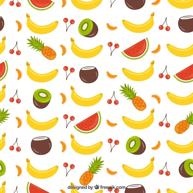 Padrão de coleta de frutas Vetor grátis