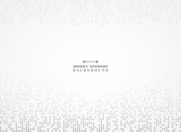 Padrão de cor cinza digital de fundo eletrônico Vetor Premium