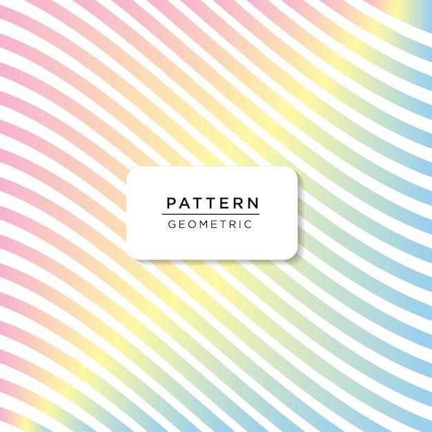 Padrão de cor do arco-íris Vetor Premium