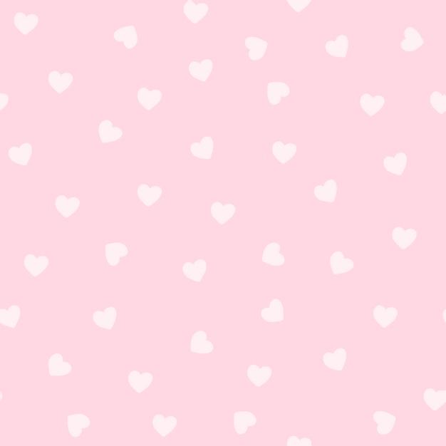 Padrão de coração rosa claro Vetor grátis