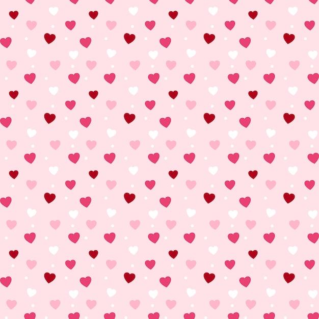 Padrão de corações sem costura para dia dos namorados Vetor Premium