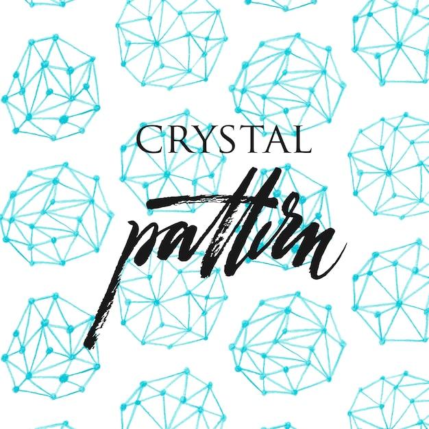 Padrão de cristal Vetor grátis
