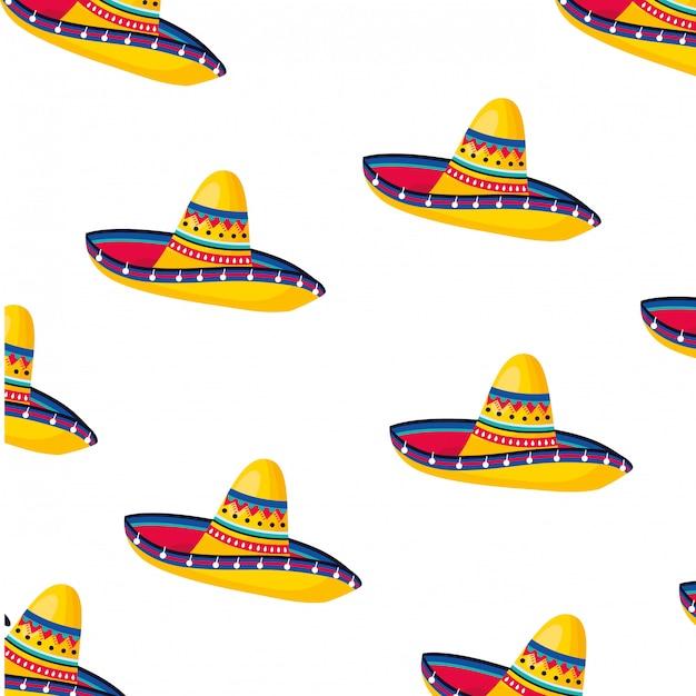 Padrão de cultura mexicana Vetor Premium