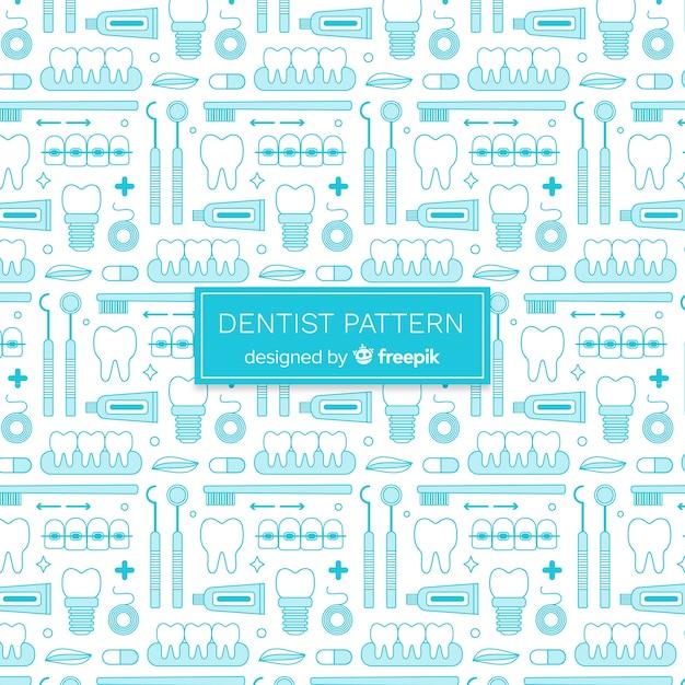 Padrão de dentista plana Vetor grátis