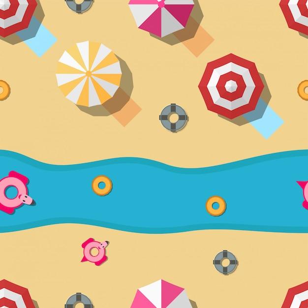 Padrão de design para a temporada de verão. ilustração em estilo simples para papel de embrulho Vetor Premium
