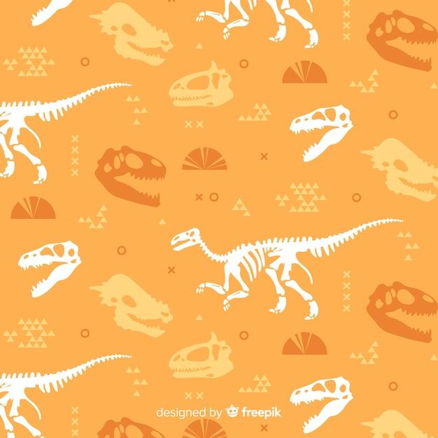 Padrão de dinossauro plana Vetor grátis