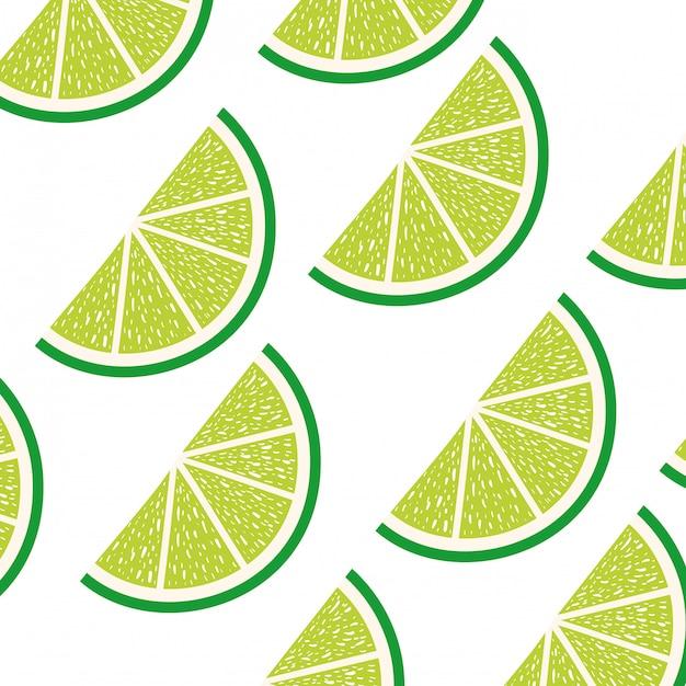 Padrão de fatia de limão Vetor Premium