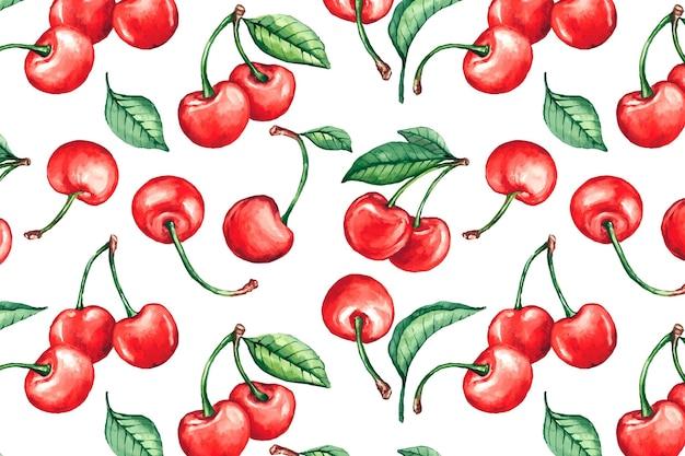 Padrão de frutas mão desenhada Vetor Premium