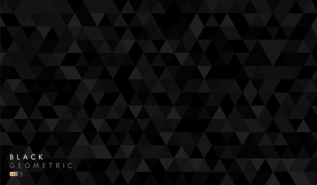 Padrão de fundo de forma abstrata hexágono geométrico preto e cinza. Vetor Premium