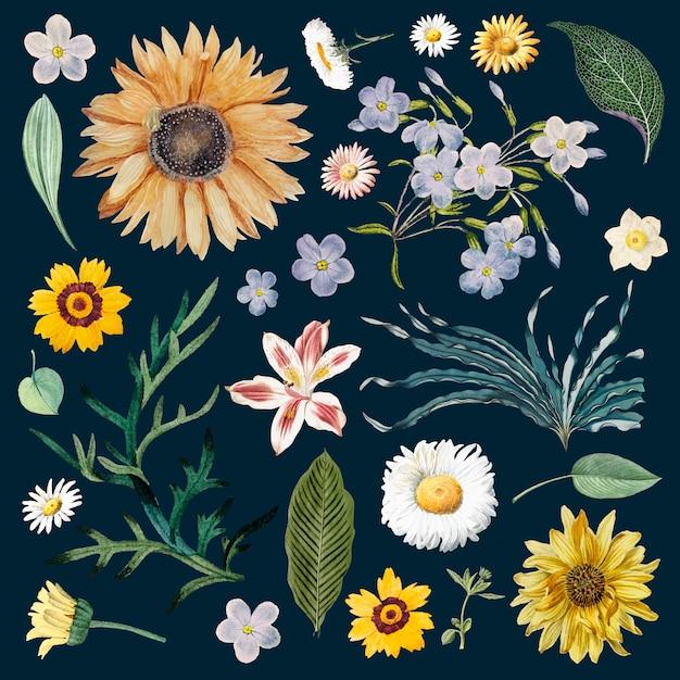 Padrão de fundo floral Vetor grátis
