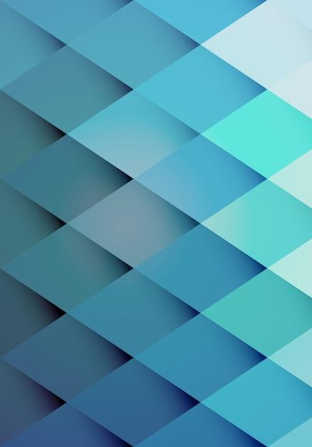 Padrão de fundo retrô moderno de diamantes azuis graduados em repetição Vetor grátis