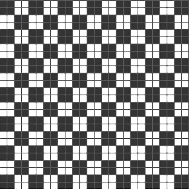Padrão de fundo telha xadrez preto e branco textura retângulo Vetor Premium