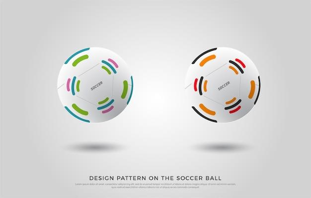 Padrão de futebol na bola de futebol Vetor Premium