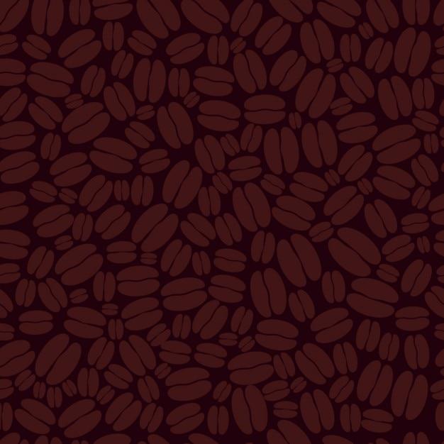 Padrão de grãos de café Vetor grátis