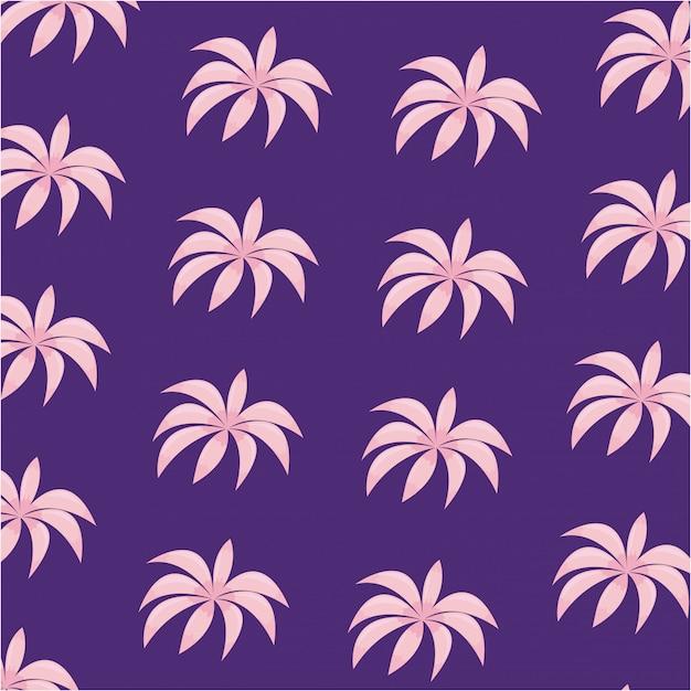 Padrão de ícone de folhas tropicais Vetor Premium