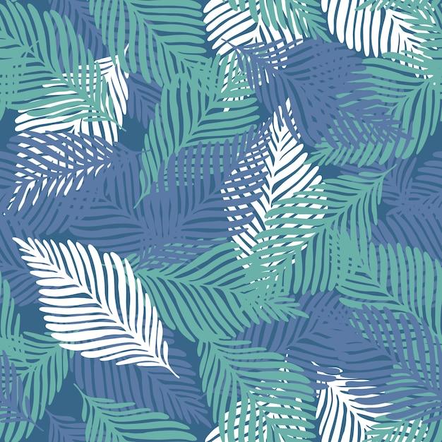 Padrão de impressão de natureza verão selva Vetor Premium