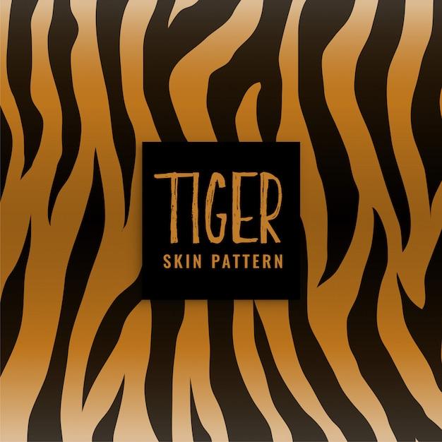 Padrão de impressão de textura de pele de tigre Vetor grátis