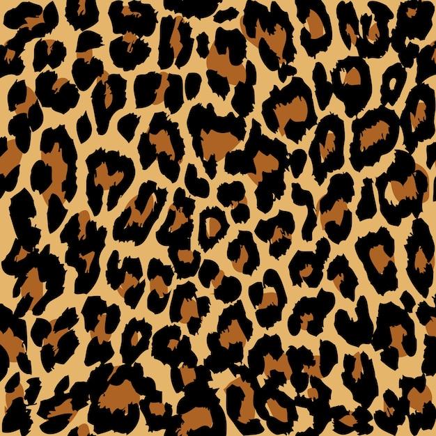 Padrão de leopardo Vetor Premium