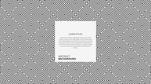 Padrão de listras circulares diagonais abstratas Vetor Premium