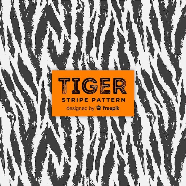 Padrão de listras de tigre Vetor grátis