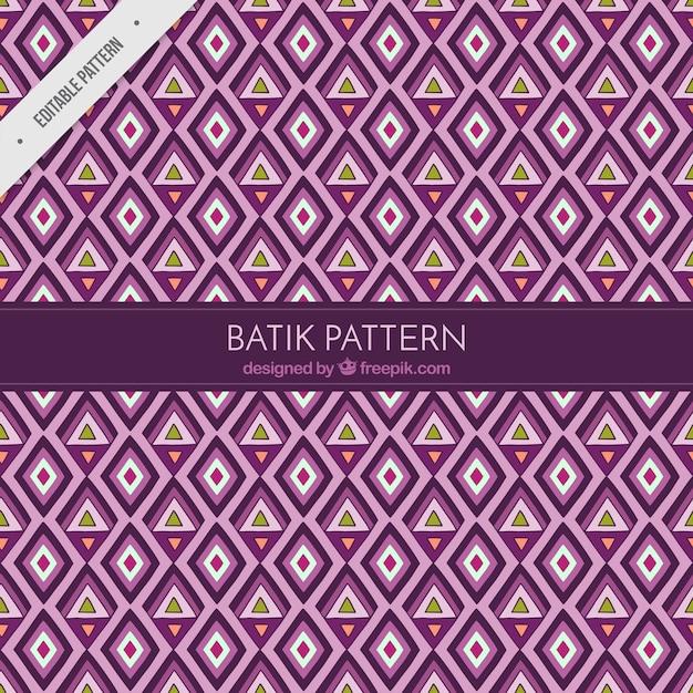 Padrão de losangos e triângulos em estilo batik Vetor grátis