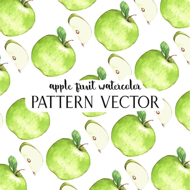 Padrão de maçãs em aquarela Vetor grátis