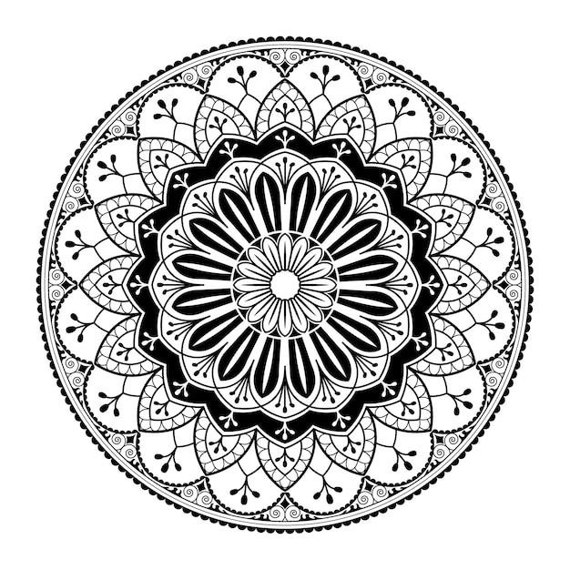 Padrão de mandala branca em fundo branco Vetor grátis