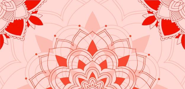 Padrão de mandalas em fundo rosa Vetor grátis