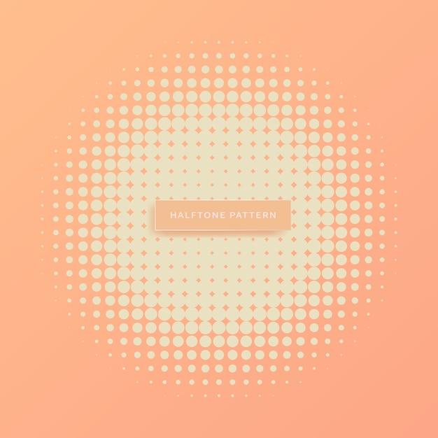Padrão de meio-tom, abstrato Vetor Premium