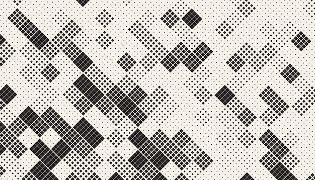 Padrão de mosaico de quadrados caóticos sem emenda Vetor grátis