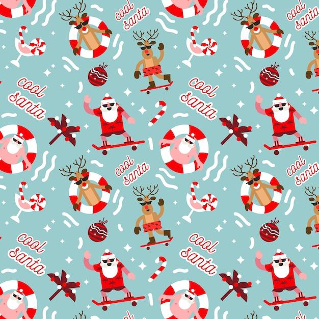 Padrão de natal engraçado Vetor grátis