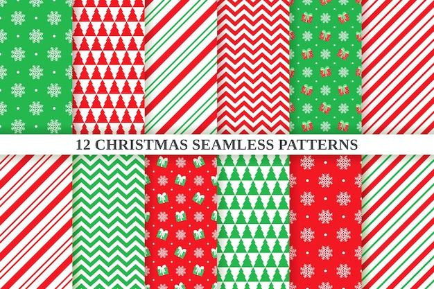 Padrão de natal. plano de fundo transparente. férias de natal, textura festiva de ano novo. impressão têxtil abstrata, geométrica com zigue-zague, floco de neve, bolinhas, listra de bastão de doces. Vetor Premium