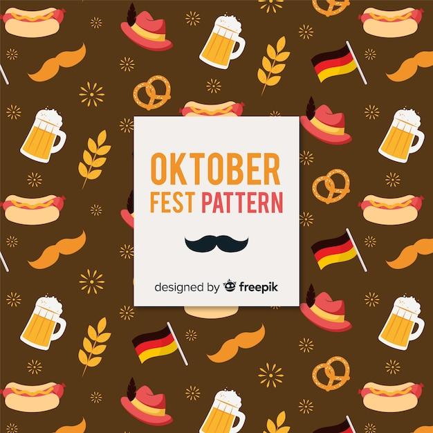Padrão de oktoberfest Vetor grátis