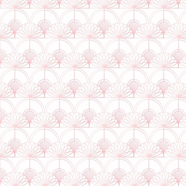 Padrão de ouro rosa em fundo branco Vetor grátis