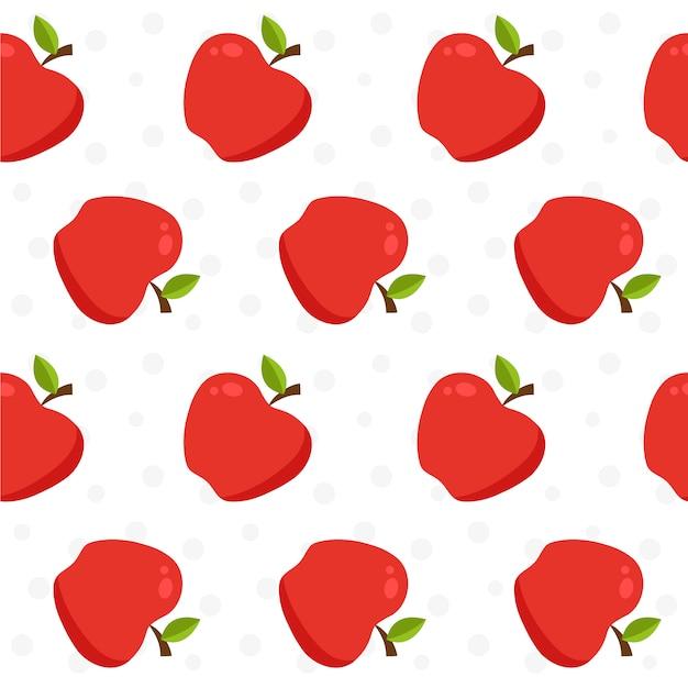Padrão de padrão de maçã Vetor grátis